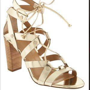 Banana Republic Eryn Gold Metallic Heels